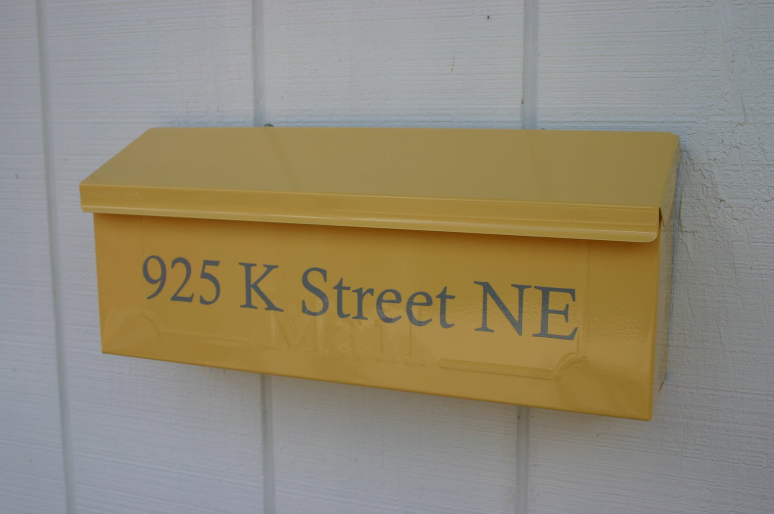 Summer Squash Yellow Painted Mailbox by TheBusBox - Choose your ...