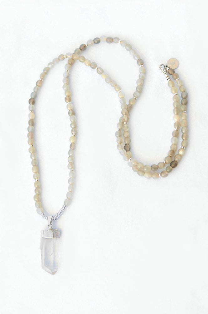 Image of fashionable ME- Grey Moonstone Necklace