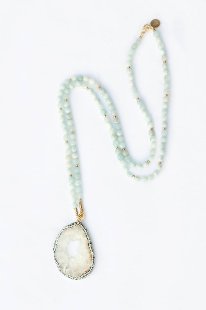Image of fashionable ME- Aquamarine Necklace