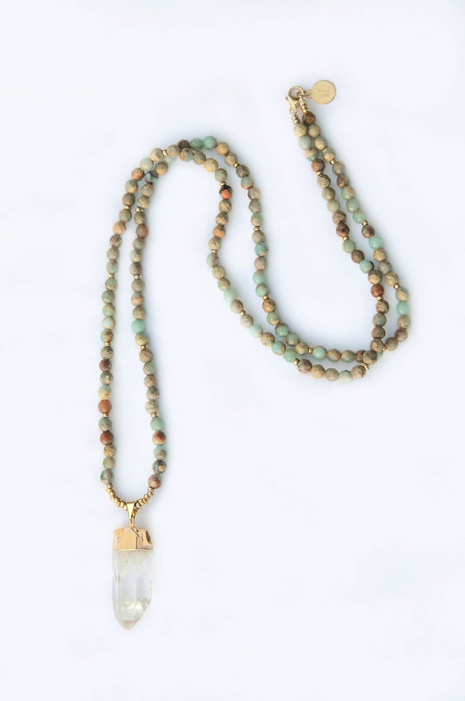 Image of fashionable ME- Multi Aquamarine Necklace