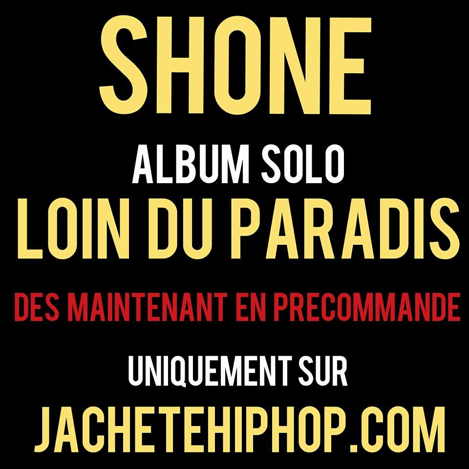 """Image of PRECOMMANDE CD SHONE ALBUM SOLO """"Loin du paradis"""""""