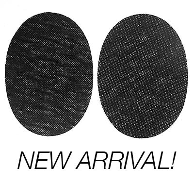 Image of Iron-on  Elbow Patches - Lightweight fine vintage black wool