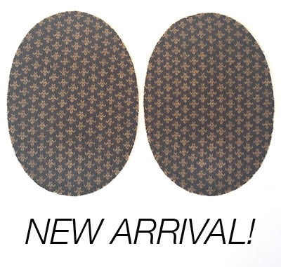 Image of Iron-On Cashmere Oval Elbow Patches  - Brown and Camel Pattern - limited edition!