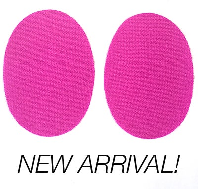 Image of Iron-On Cashmere Elbow Patches - Bright Pink Ovals - Limited Edition!