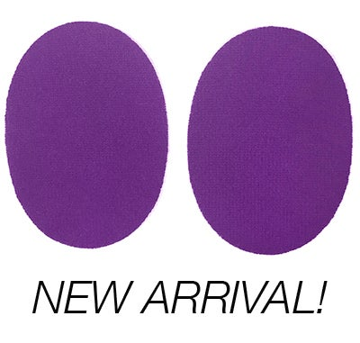 Image of Iron-On Cashmere Elbow Patches  - Ultra Violet Purple Ovals