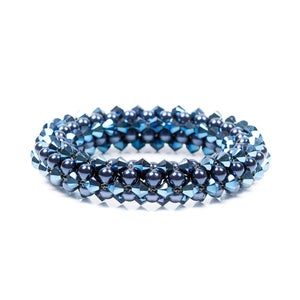 Image of Metallic blue rope bracelet
