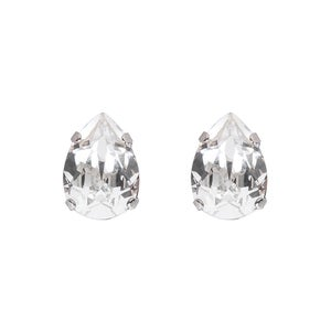 Image of Large pear stud earrings