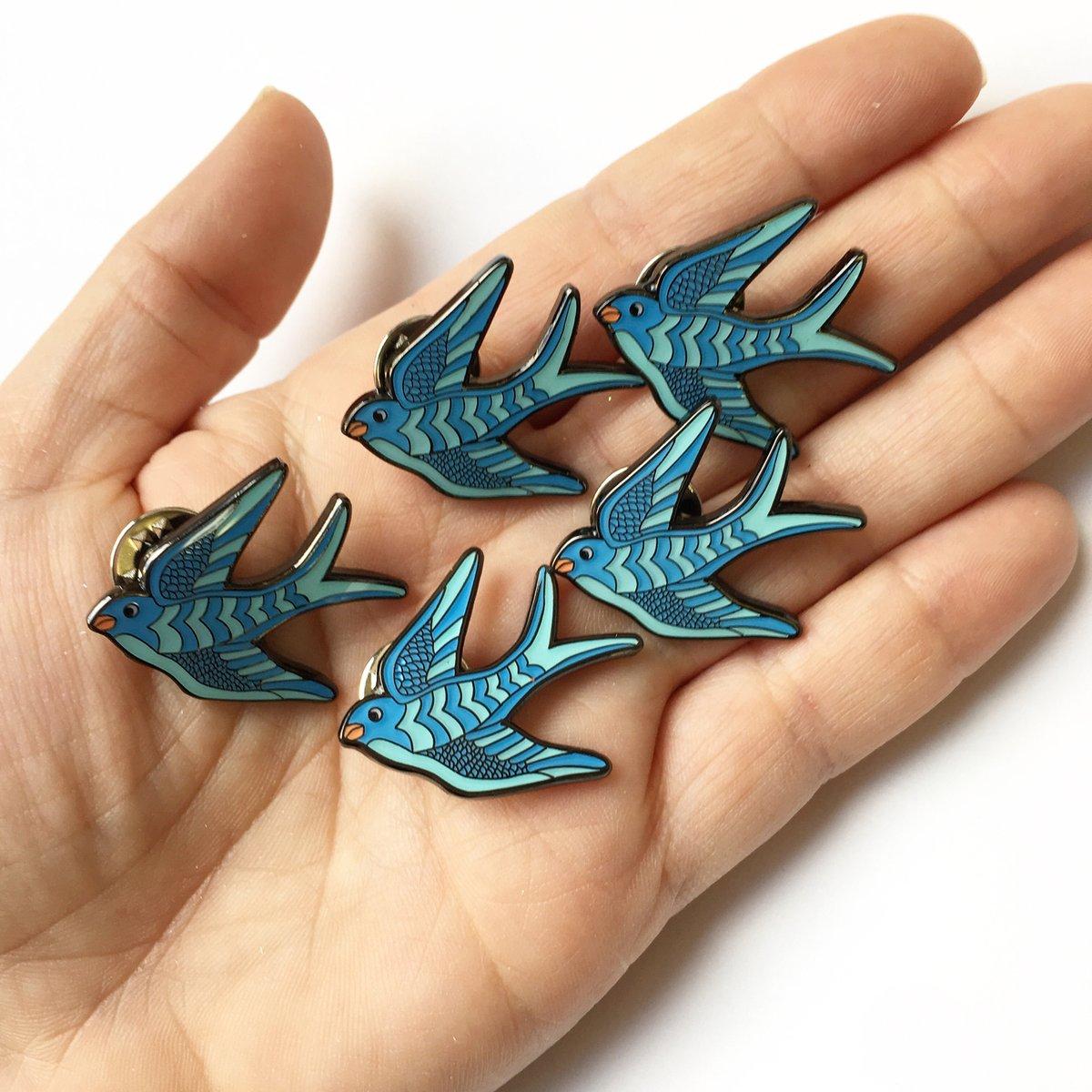 Swallow Enamel Pin