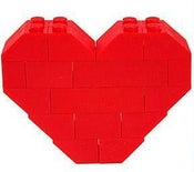 Image of Lego Heart Pin