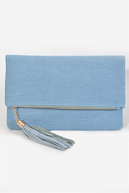 Image of Denim Clutch