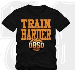 Image of Unisex Train Harder T-Shirts Orange