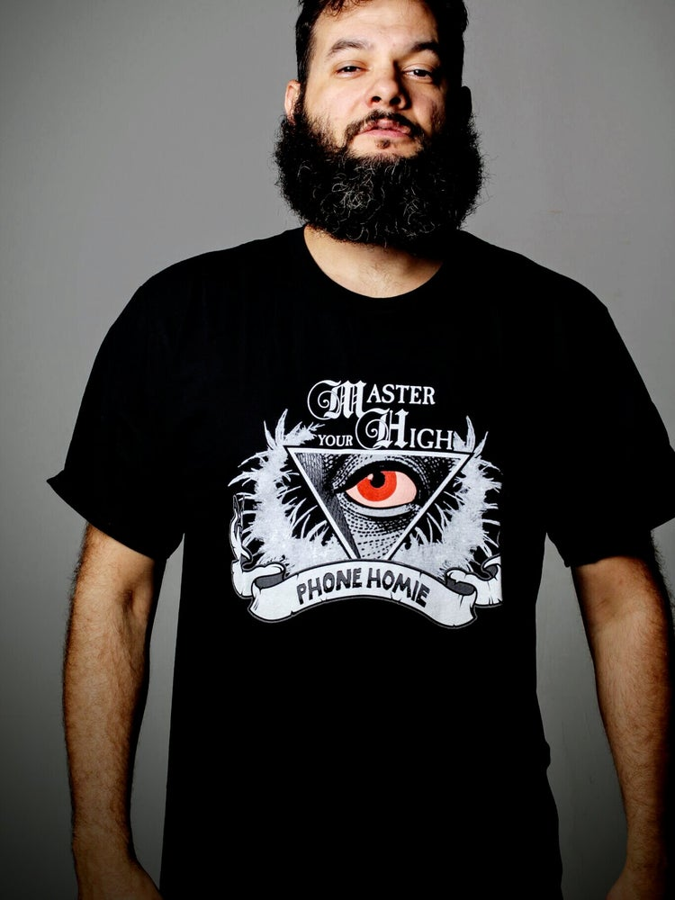 "Image of JUST IN ONLINE ""Master Your High"" Red Eye T-Shirt"