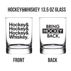 Image of Hockey&Whiskey Glass Set [FREE SHIPPING]