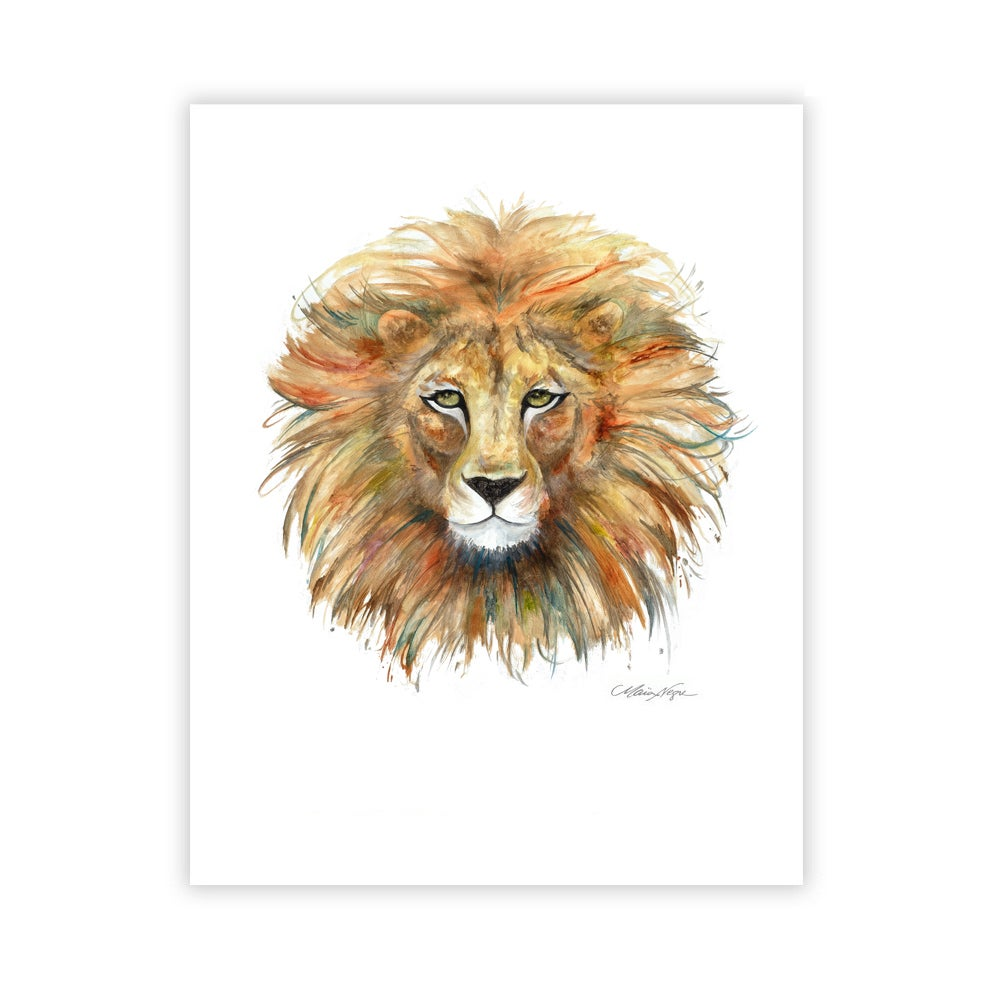 Image of Lion, Archival Paper Print