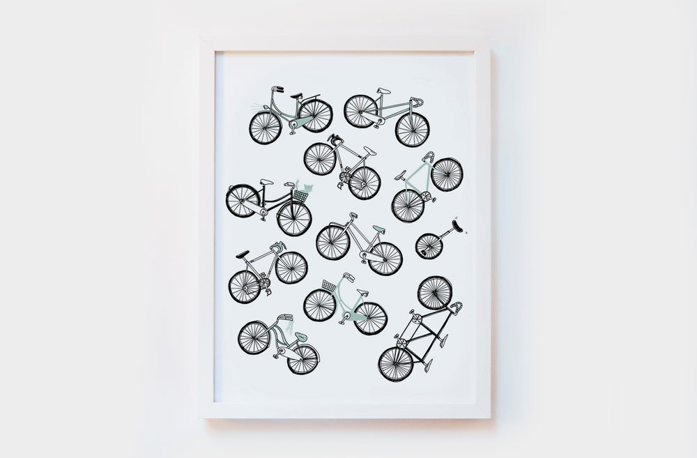 Image of Bicycles Art Print