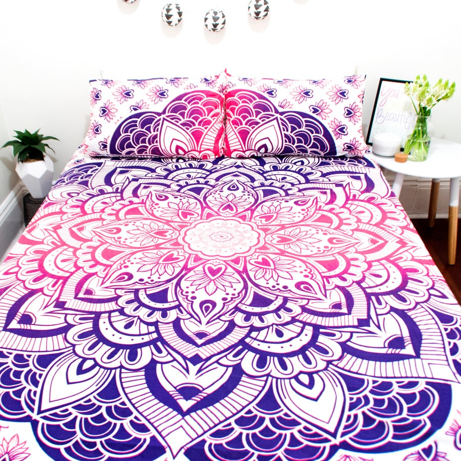 Image of Pink and Purple Ombre Lotus Doona Set-Marked down from $110, NOW