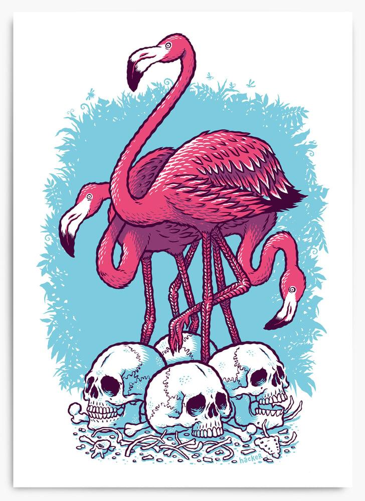 Image of Flamingos of Death Metal
