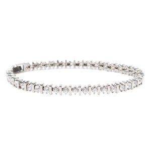 Image of Palladium Bar Tennis Bracelet