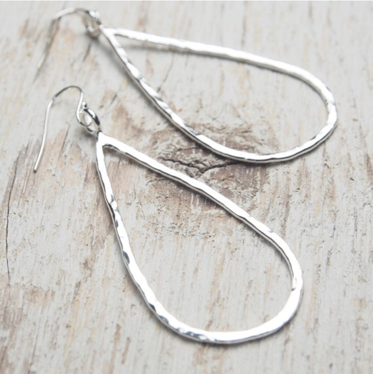 Image of teardrop outline earrings