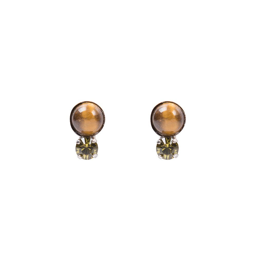 Image of Tigers Eye Cabochon Studs