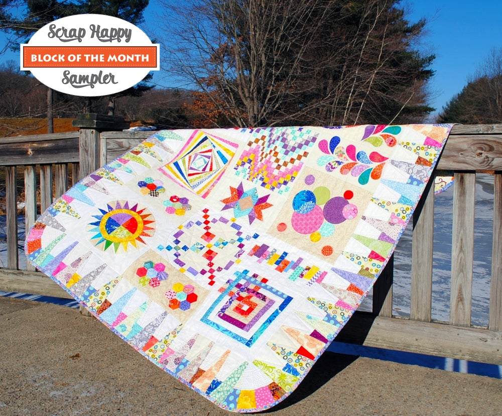 Image of Scrap Happy Sampler Block of the Month Quilt Pattern
