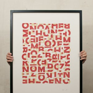 Image of Crashed Letters Red (new)