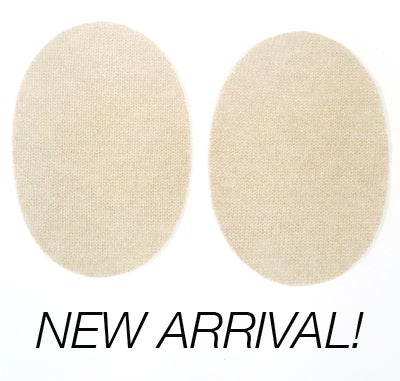 Image of Iron-On Cashmere Elbow Patches  - Cream Ovals