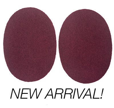 Image of IRON-ON CASHMERE ELBOW PATCHES - MAROON