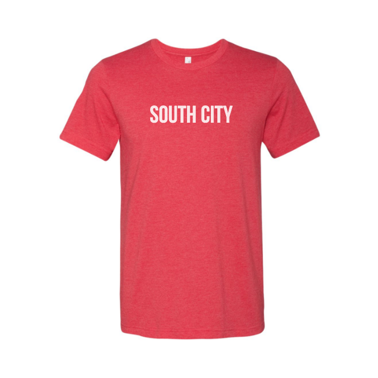 Image of Heather Tee w/ White Lettering