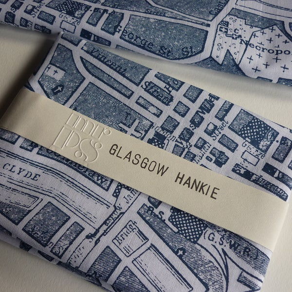 Image of Glasgow Map Hankie