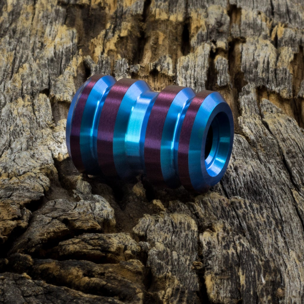 Image of Tank Teal & Deep Purple Ti Bead #1