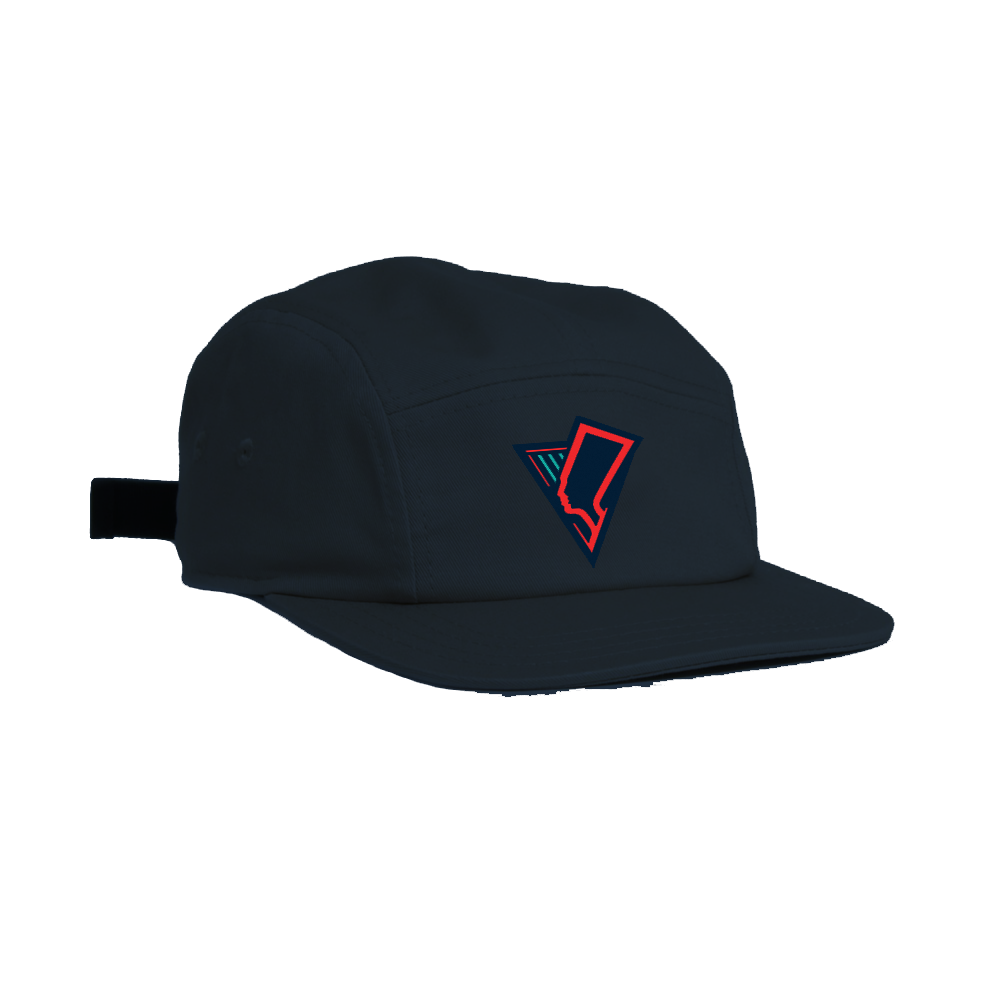 Image of BRING BACK THE QUEENS - 5 PANEL OTTO HAT - NAVY