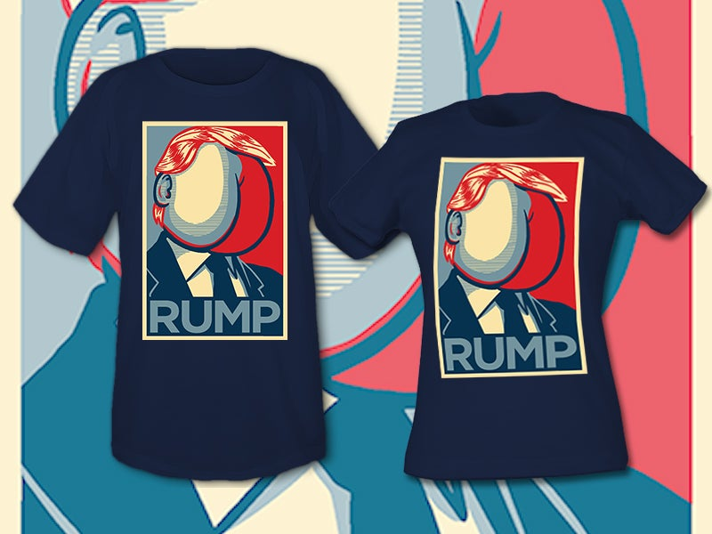 Image of RUMP Navy Blue Ladies' tee