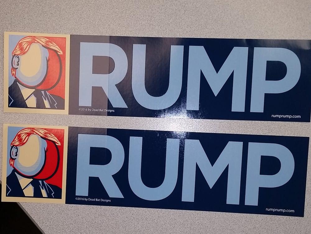 Image of RUMP bumper sticker (3in x 11.5in) (Trump parody)
