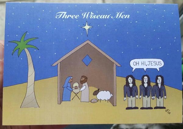 Image of Three Wiseau Men Card Pack
