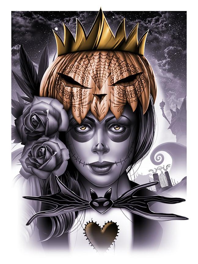 Image of Pumpkin Queen Fine Art Print