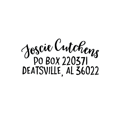 Image of Curved Name Address Stamp