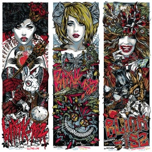 Image of BLINK-182 gigposters - 3x POSTER ALICE SET