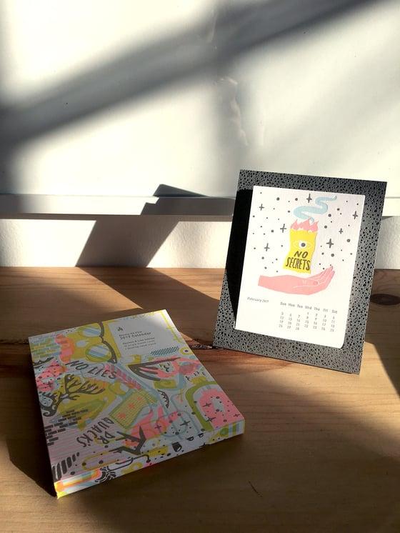 Image of 2017 Studio on Fire Desk Calendar