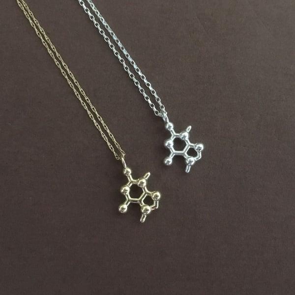 Image of tiny theobromine necklace