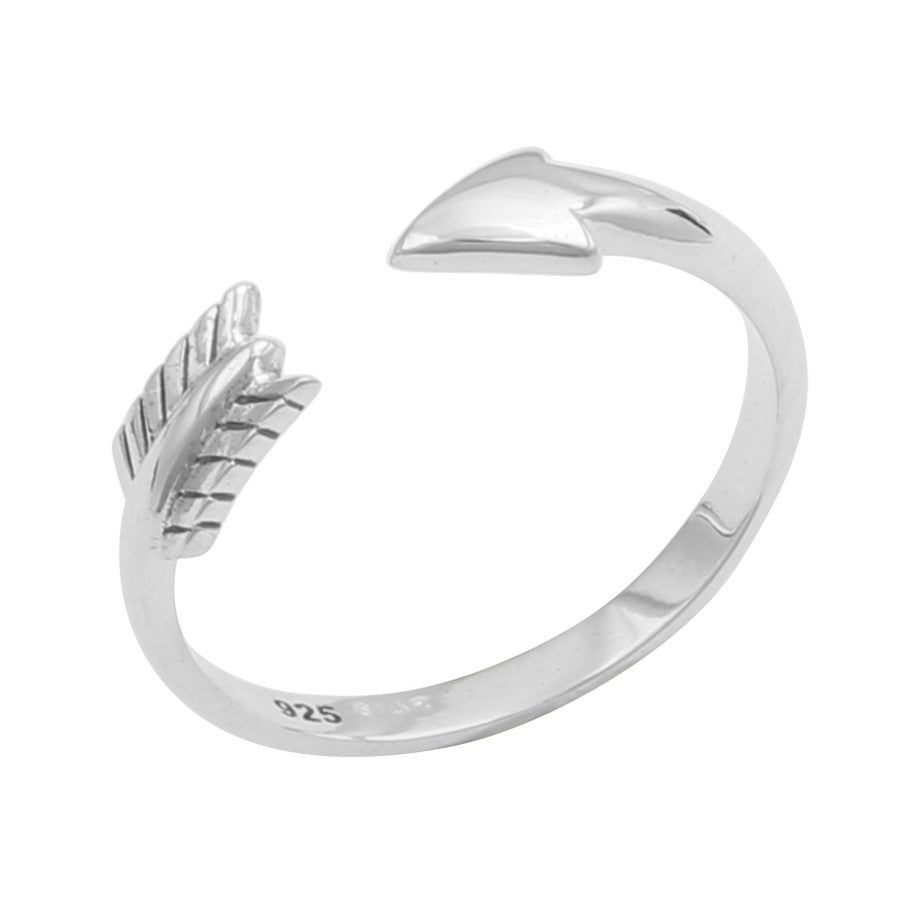 Image of Sterling Silver Arrow Midi Ring