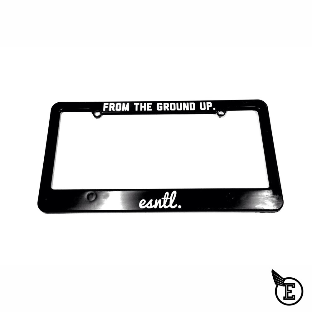 "Image of ""From The Ground Up"" License plate holder"