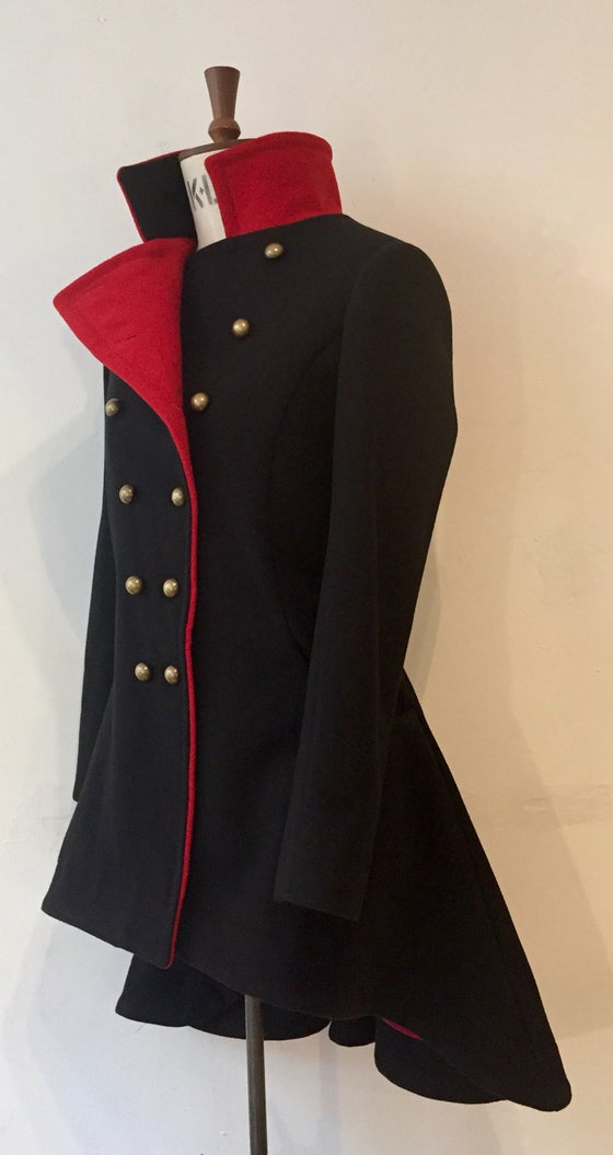Image of Colour block commander coat