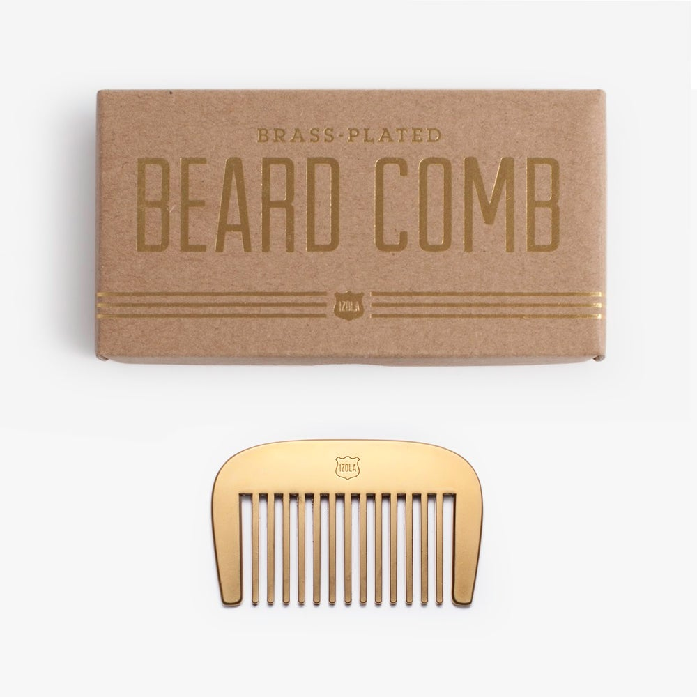 Image of Brass Beard Comb by Men's Society