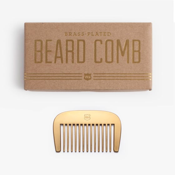Image of Brass Beard Comb by Men's Society - 40% off