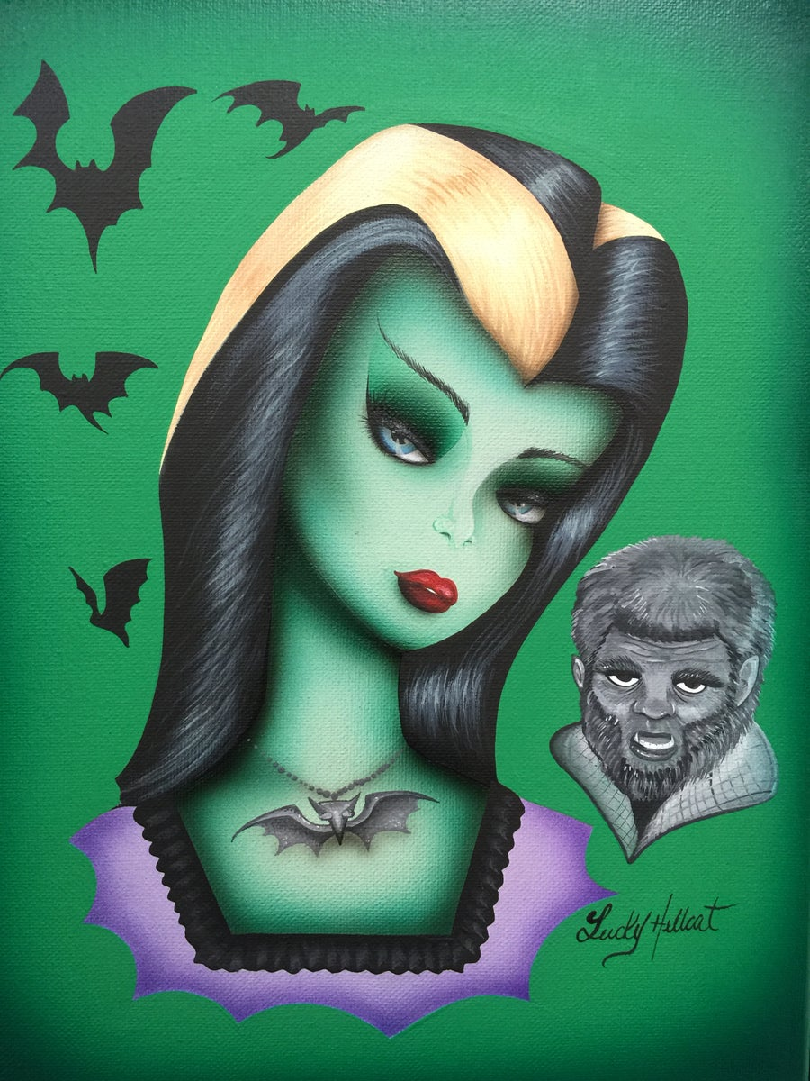 Image of Lily Munster Print