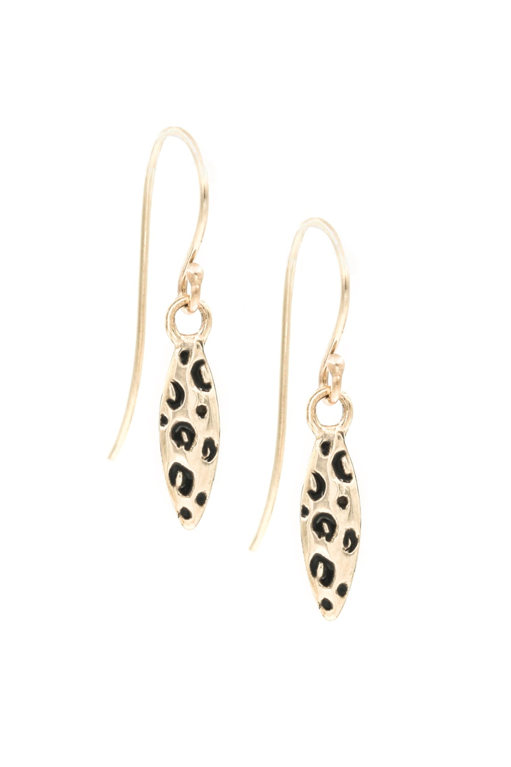 LEOPARD NAVETTE EARRINGS