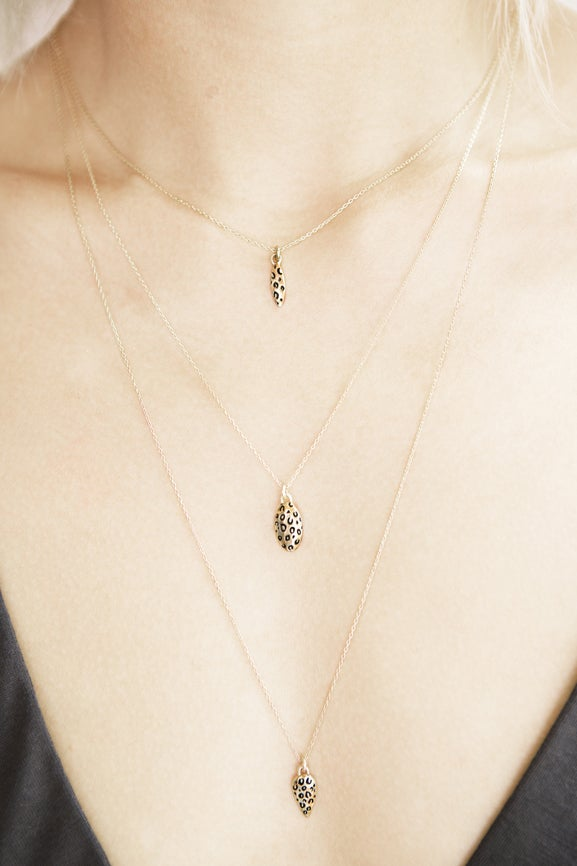 LEOPARD NAVETTE NECKLACE