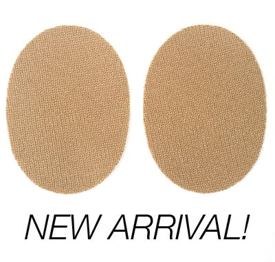 Image of Iron-On Cashmere Elbow Patches  - Camel Ovals
