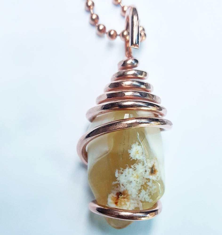 Image of Copper Wrapped White Opal